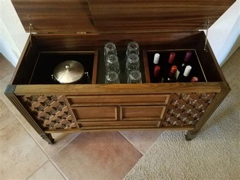 Vintage Stereo Cabinet Repurposed As A Bar Vintage Tv