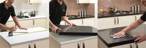 How To Install Kitchen Countertop How The Countertop Overlay Installation Process Works Granite Transformations