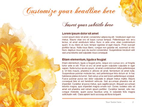 watercolor templates watercolor template for powerpoint and impress
