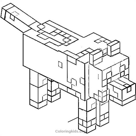 minecraft dog coloring page mob tamed wolf jpg 1 color pages pinterest