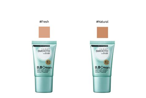 Maskara Transparan Maybelline maybelline clear smooth bb spf21 pa 18ml favful