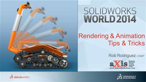 rendering animation with photoview in solidworks grabcad solidworks world 2014 presentations available for download