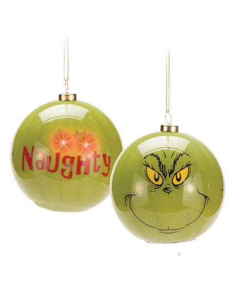 the grinch light up christmas tree ornaments choose your