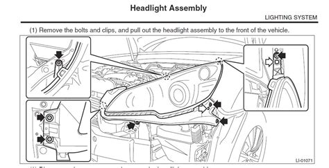 subaru headlight names 2010 subaru legacy headlight adjustment