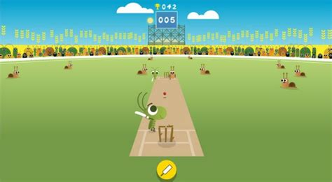 doodle cricket play a of cricket with crickets in s