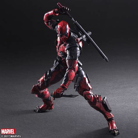 figure variant marvel universe deadpool variant play arts figure