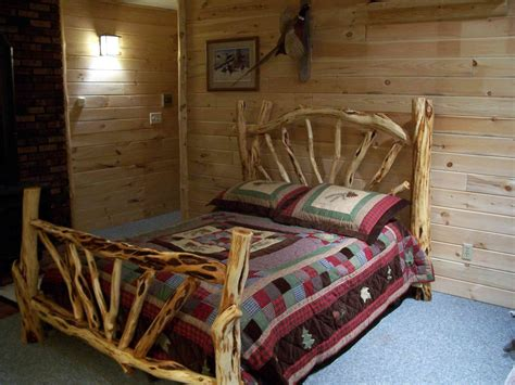 how to make a log bed log furniture