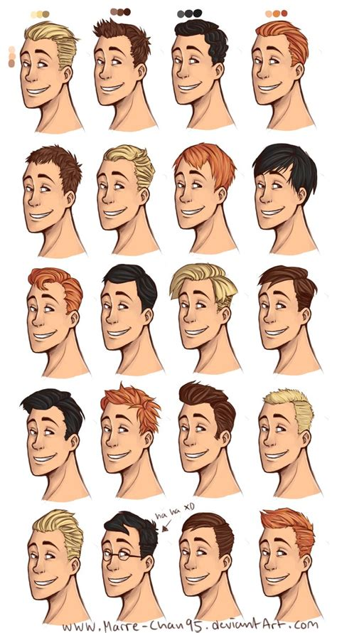i really wanted to draw some hair styles by solstice 11 on 20 diffrent haircuts by marre chan95 on deviantart