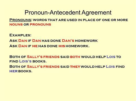 pronoun antecedent agreement ppt video online download