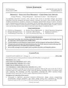 Executive Resume Example Senior Executive Resume