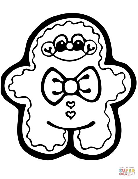 gingerbread man coloring page in glum me
