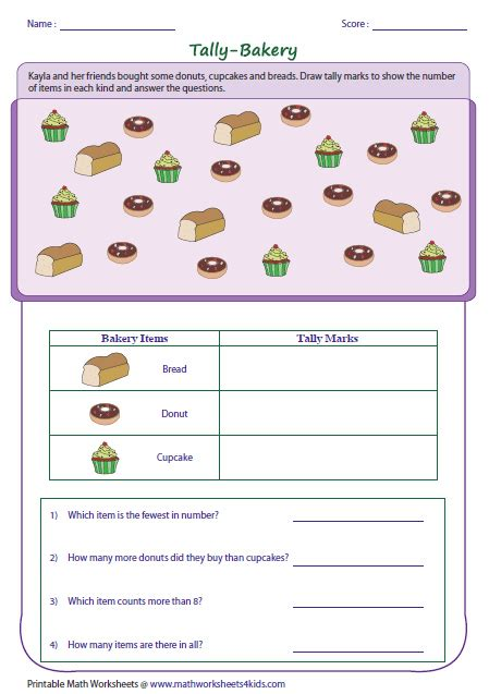 Tally Worksheets by Tally Marks Worksheets