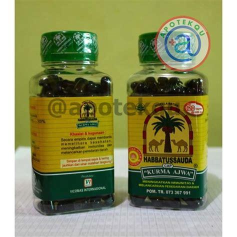 habbatussauda cap kurma ajwa 120 kapsul apotekqu apotekqu