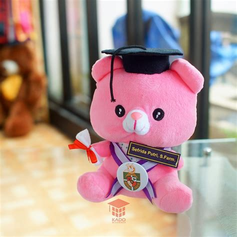 Boneka Wisuda 2017 jual boneka wisuda baby pink imut murah 23 cm kado