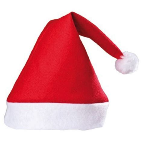 5 pcs new year santa red hat red and white cap christmas
