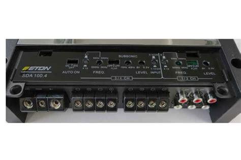 Eton Sda 150 4 Power 4 Channel 楽天市場 正規品 車載用eton イートン sda 100 675w 215 6chフルレンジd級パワーアンプ
