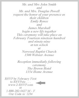 Invitation Letter Rsvp Exle Of Formal Wedding Invitation Letter Wedding Invitation