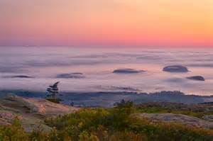 Mount Cadillac Maine Sunset At Cadillac Mountain Acadia National Park Maine