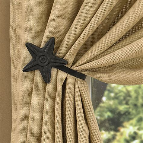 drapery tie back primitive home decor primitive curtain hooks black