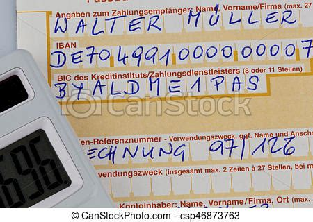 deutsche bank frankfurt iban payment slip with iban number a payment slip to transfer