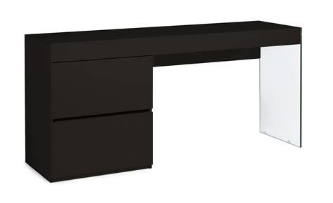 Bureau Moderne Laqu 233 Noir 2 Tiroirs Cubique Lestendances Fr Bureau Laqu Noir
