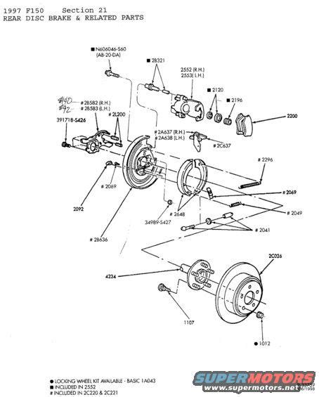 Brake System For Ford F150 2003 F150 Front Brake Parts Diagram Autos Post