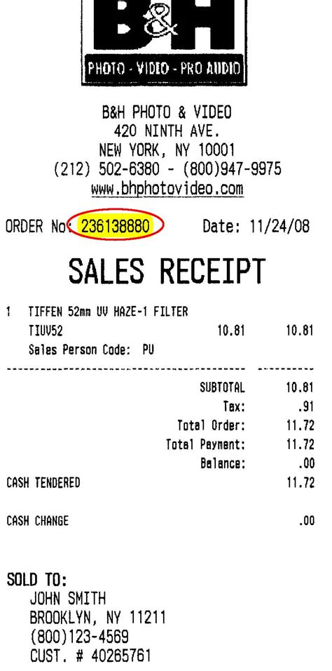 Store Receipt Template Free by Store Survey Sn10