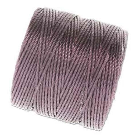 s lon beading thread beadsmith s lon bead cord 18 eggplant 77yd c lon