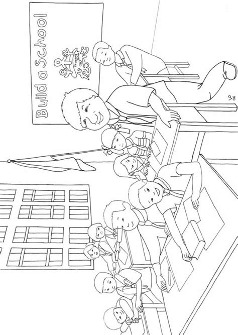 classroom coloring sheet coloring pages
