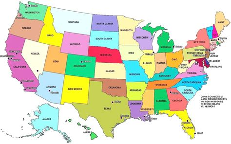 map usa states 50 states with cities printable map of united states with capitals united states
