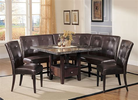 sectional dining room table marble top dining table with sectional leather upholstered corner bench of dining room table