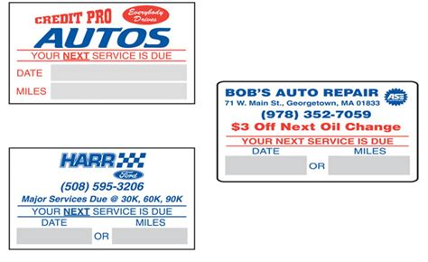 oil change stickers custom 2 1 2 quot x 1 1 2 quot buy now