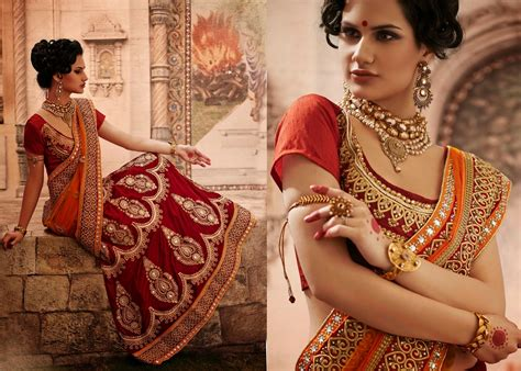 bridal lehenga style sarees collection  indian wedding