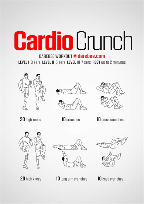 Workouts At Your Desk Cardio Crunch Workout