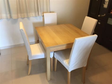 Extendable Dining Table Ikea Ikea Extendable Dining Table With 4 Chairs As As New Singapore