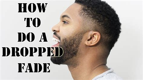 how to do v shaped fade how to cut a drop fade haircut youtube