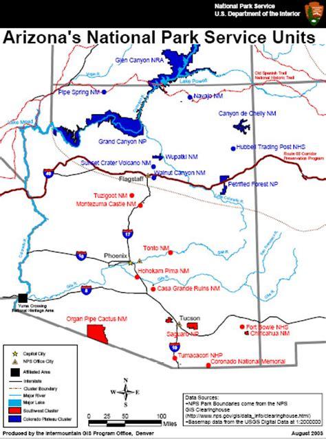 arizona national forest map maps petrified forest national park u s national park