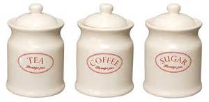 Canister Sets For Kitchen Ceramic ascot cream ceramic tea coffee sugar kitchen storage jars