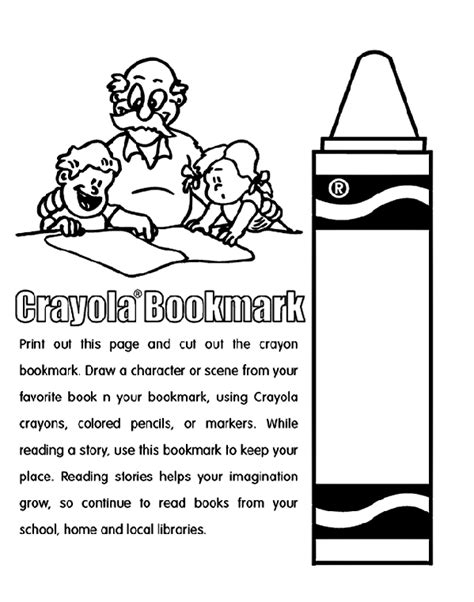 Crayola Crayon Coloring Pages Crayon Bookmark Coloring Page Crayola Com