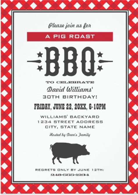 30 barbeque invitation templates free sle exle