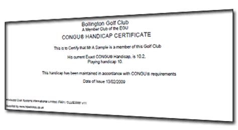 pin golf handicap certificate march madness tournament on