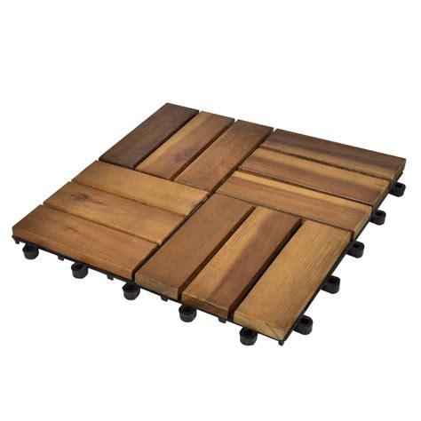 Sleting 30 Cm set 30 baldosas de madera de acacia 30 x 30 cm vidaxl es
