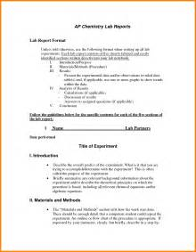 Chemistry Lab Report Template Word often it describes the lab do one sample formal looks at chicago any