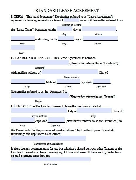 Apartment Lease Agreement Template Beepmunk Apt Lease Template