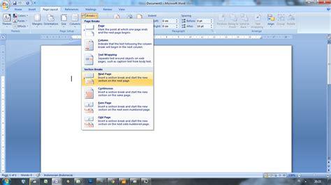 membuat angka halaman pada word membuat page number nomor halaman berbeda ms word oddsay