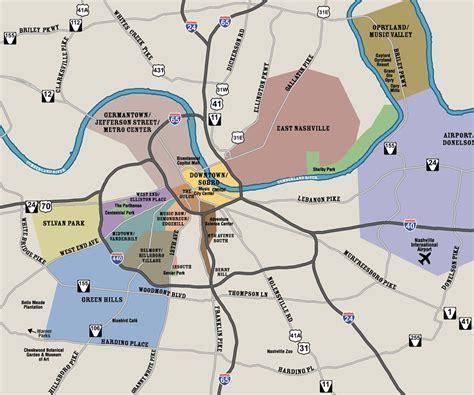 map of nashville downtown nashville map and transportation city visit nashville tn city