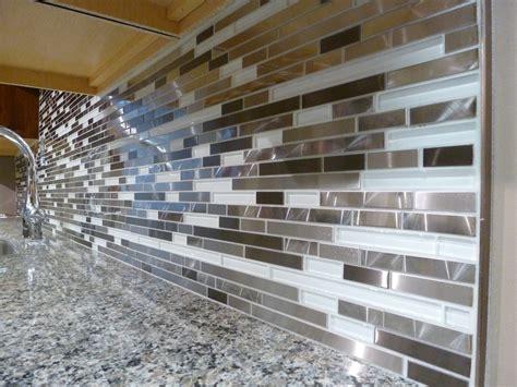 desert blend glass tile kitchen backsplash strip