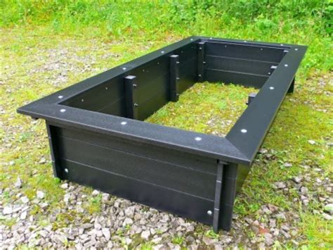 plastic raised garden beds delux raised bed with seat surround british recycled