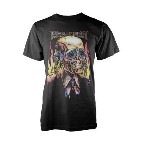 Kaos Band Megadeth Tshirt Musik Rock Megadeth Mega 22 megadeth flaming vic t shirt megastore
