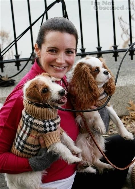 city dogs kristen davis with terrier and cavalier king charles spaniel terriers